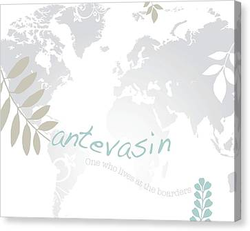 Antevasin Canvas Print by Cindy Greenbean