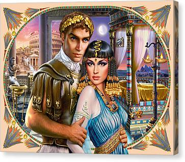 Anthony And Cleopatra Canvas Print by Andrew Farley