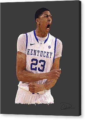 Anthony Davis Canvas Print by Charley Pallos