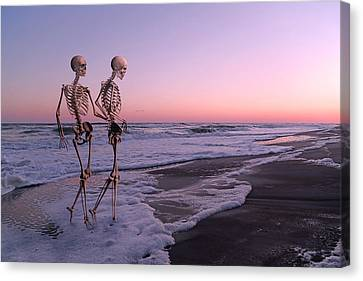 Ghost Story Canvas Print - Anthropology Shared Similarities  by Betsy Knapp