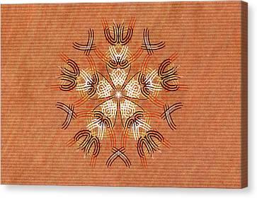 Anthropomorphic Mandala Canvas Print by Hakon Soreide