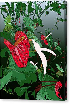 Anthuriums Canvas Print by Stacy Vosberg