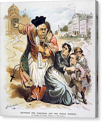 Anti-catholic Cartoon, 1889 Canvas Print by Granger