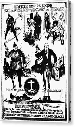 Anti-german Poster Canvas Print
