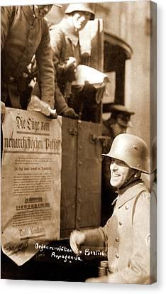 Anti-revolution Propaganda, Berlin Germany 1920 Canvas Print by Litz Collection