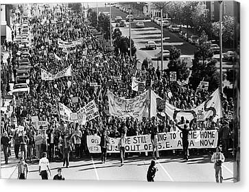 Against The War Canvas Print - Anti Vietnam War Demonstration by Underwood Archives Adler