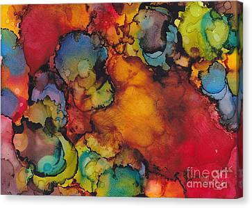 Antidote To Grey Days Canvas Print by Louise Lamirande