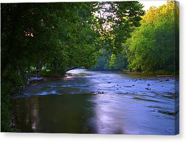Antietam Creek - Hagerstown Maryland Canvas Print by Bill Cannon