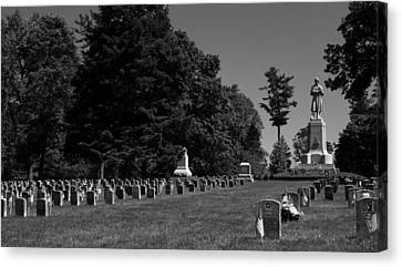 Canvas Print featuring the photograph Antietam National Cemetery by Andy Lawless