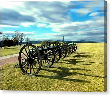 Antietem Battlefield Painting Forsale Canvas Print by Bob and Nadine Johnston