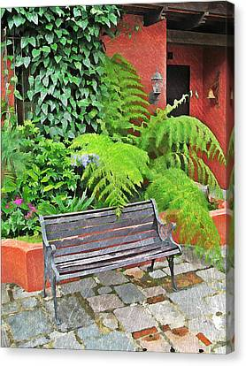 Antigua Bench Canvas Print by Maria Huntley