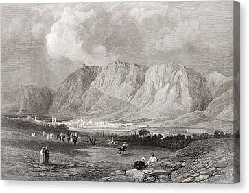 Antioch In Syria, From The South West, From A 19th Century Engraving.  From The Imperial Bible Canvas Print by Bridgeman Images