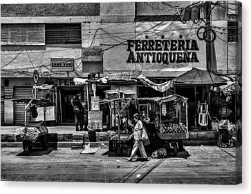 Canvas Print featuring the photograph Antioquena Barranquilla  by Rob Tullis
