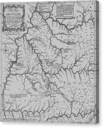 Antique 1784 Kentucky Map Canvas Print by Dan Sproul