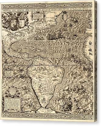 Antique America Map Canvas Print by Gary Grayson