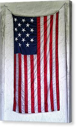 Antique American Flag Canvas Print by Olivier Le Queinec