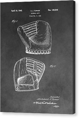 Baseball Glove Canvas Print - Antique Baseball Mitt by Dan Sproul