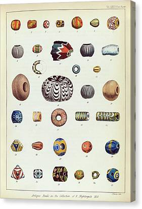 Antique Beads Canvas Print by Middle Temple Library