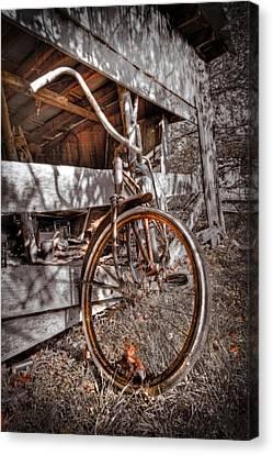 Antique Bicycle Canvas Print by Debra and Dave Vanderlaan