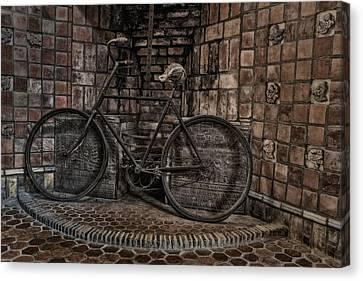 Byzantine Canvas Print - Antique Bicycle by Susan Candelario