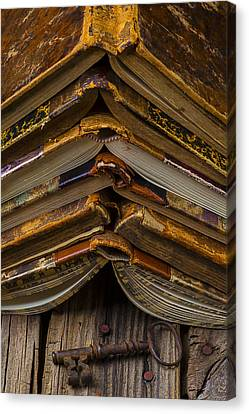Book Collecting Canvas Print - Antique Books by Garry Gay
