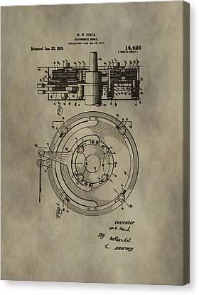 Antique Brakes Patent Canvas Print