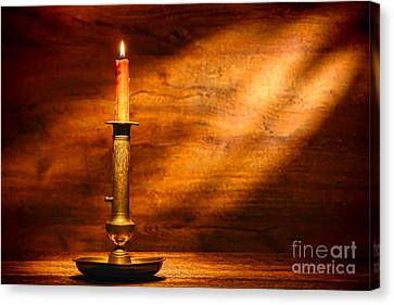 Antique Candlestick Canvas Print by Olivier Le Queinec
