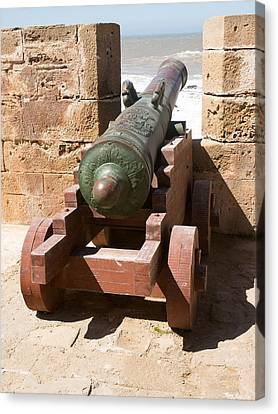 Moroccan Canvas Print - Antique Cannon In The North Bastion by Panoramic Images