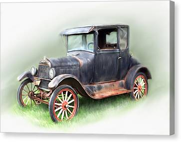 Canvas Print featuring the painting Antique Car by Bonnie Willis