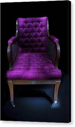 Antique Chair Paxton House Canvas Print by Niall McWilliam