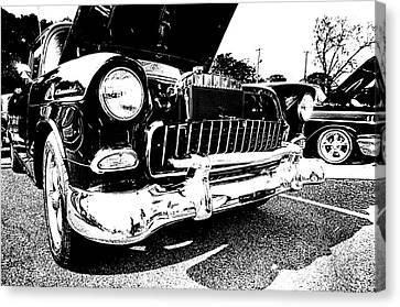 Antique Chevy Car At Car Show Canvas Print