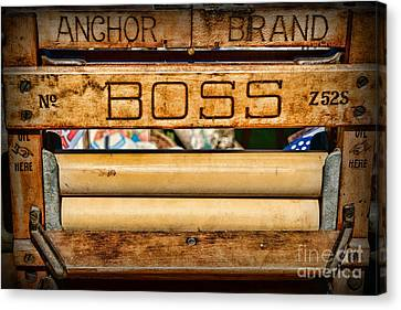 Antique Clothes Wringer Anchor Brand Canvas Print by Paul Ward
