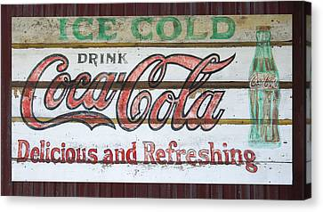 Antique Coca Cola Sign  Canvas Print