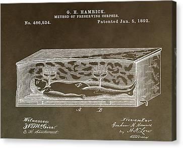 Antique Coffin Patent Canvas Print