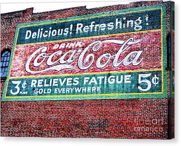 Antique Coke Sign Canvas Print