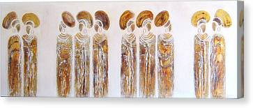 Antique Copper Zulu Ladies - Original Artwork Canvas Print