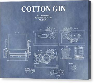 Antique Cotton Gin Patent Canvas Print by Dan Sproul