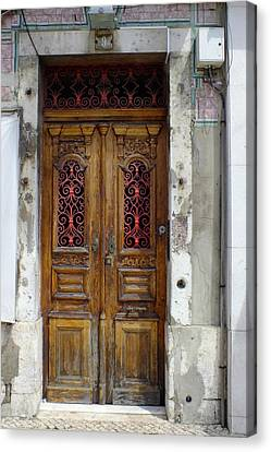 Antique Door In Lisbon Canvas Print