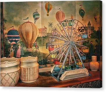 Antique Ferris Wheel Walt Disney World Canvas Print