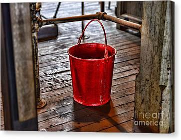 Antique Fire Bucket Canvas Print by Paul Ward