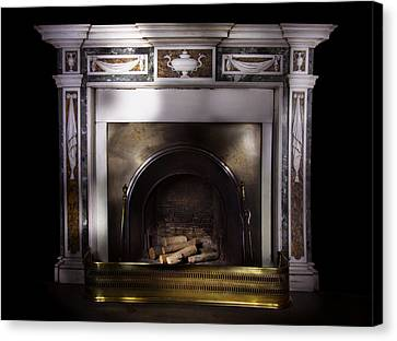 Antique Fireplace Paxton House Canvas Print by Niall McWilliam