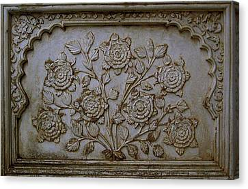 Antique Flowers Canvas Print by Russell Smidt