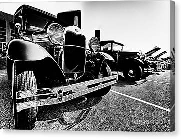 Antique Ford Car At Car Show Canvas Print by Danny Hooks