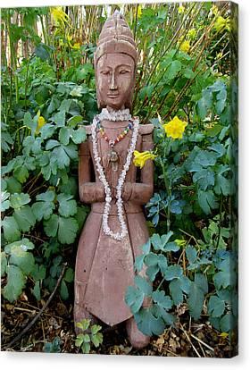 Antique Garden Goddess Canvas Print by Eileen Lighthawk