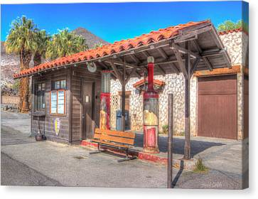 Antique Gas Station Canvas Print by Heidi Smith