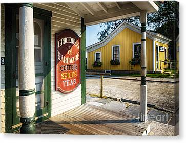 Antique Grocery Store Sign Canvas Print