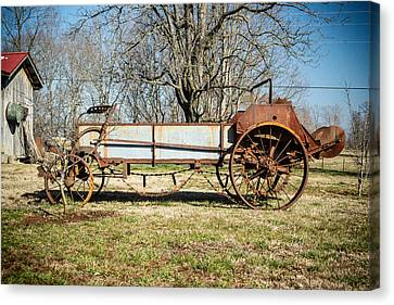 Antique Hay Bailer 3 Canvas Print by Douglas Barnett