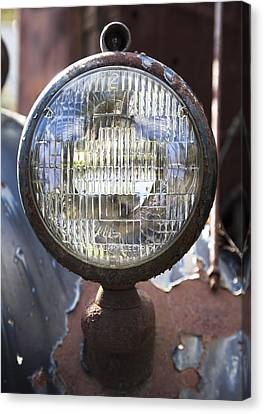 Antique Headlamp Canvas Print by Charles Harden