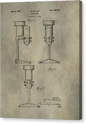 Antique Homogenizer Patent Canvas Print