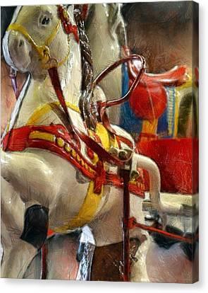Antique Horse Cart Canvas Print by Michelle Calkins